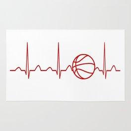 BASKETBALL HEARTBEAT Rug
