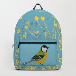 Great Tit Bird Art Backpack