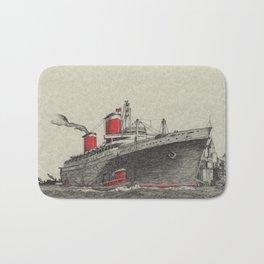 Steam Ship, New York Harbor Bath Mat