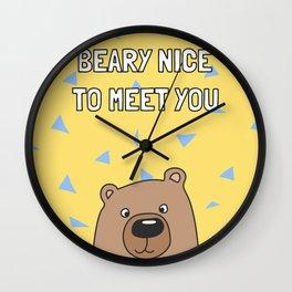 Beary Nice to Meet You Wall Clock