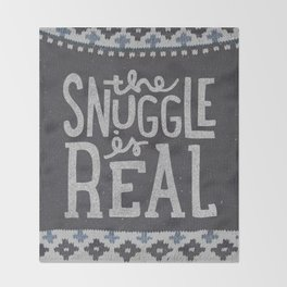 the snuggle is real Throw Blanket