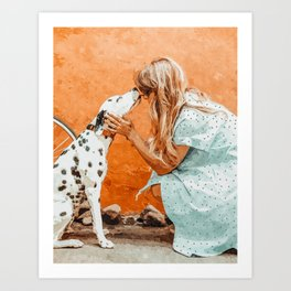 Pet Bound #pets #animals #animalslover #painting Art Print