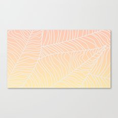 TROPICAL LEAF - dreamy look (pink and yellow) Canvas Print