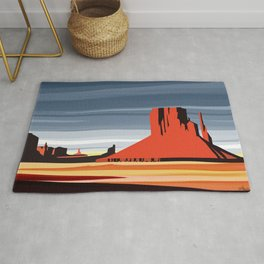 Monument Valley sunset magic realisim Rug