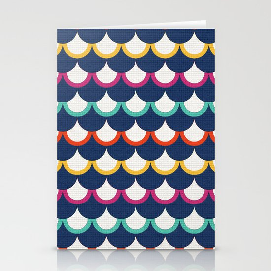 Retro Scales Stationery Cards