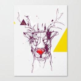 Red nose raindeer Canvas Print