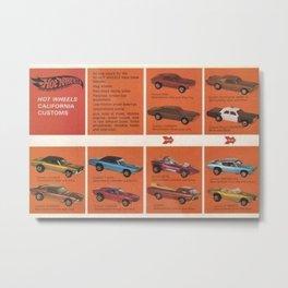 1969 Hot Wheels Redline Catalog Poster No 8 Metal Print