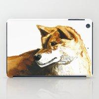 shiba inu iPad Cases featuring Shiba Inu by Naomi Bardoff