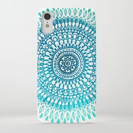 Radiate in Teal + Emerald iPhone Case