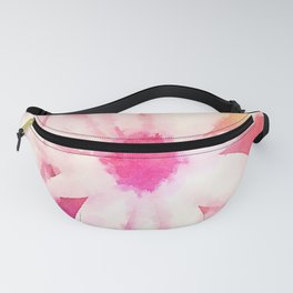 Painted Pink Flowers Fanny Pack