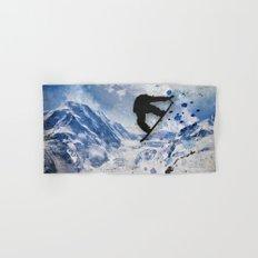 Snowboarder In Flight Hand & Bath Towel