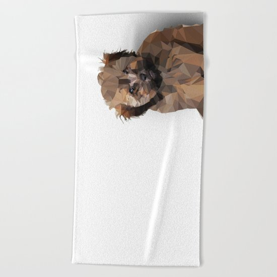 Cocoa, the puppy Beach Towel