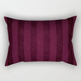 Red Wine Stripes Rectangular Pillow