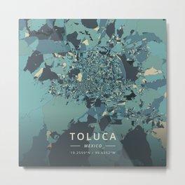 Toluca, Mexico - Cream Blue Metal Print