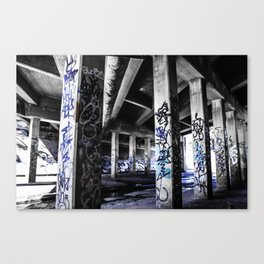 Dynamic Blue Graffiti Canvas Print
