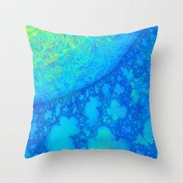 Europa JellyFish 3D Fractal Throw Pillow