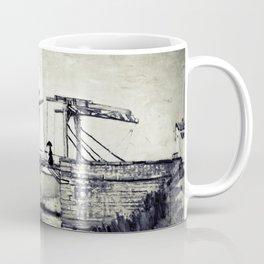 Vincent Van Gogh - Drawbridge at Arles 2 (Vintage) Coffee Mug