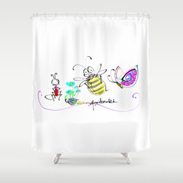 design 12 Shower Curtain