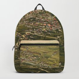 Vintage Pictorial Map of Stamford CT (1883) Backpack