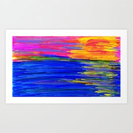 Linear Hues Art Print