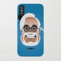 hayao miyazaki iPhone & iPod Cases featuring Dōmo Arigatō Hayao Miyazaki (Color version) by Arian Noveir