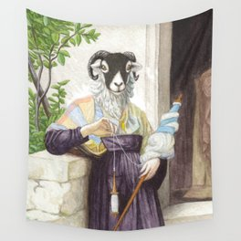 The Sheep Spinner Wall Tapestry