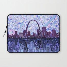 st louis city skyline Laptop Sleeve