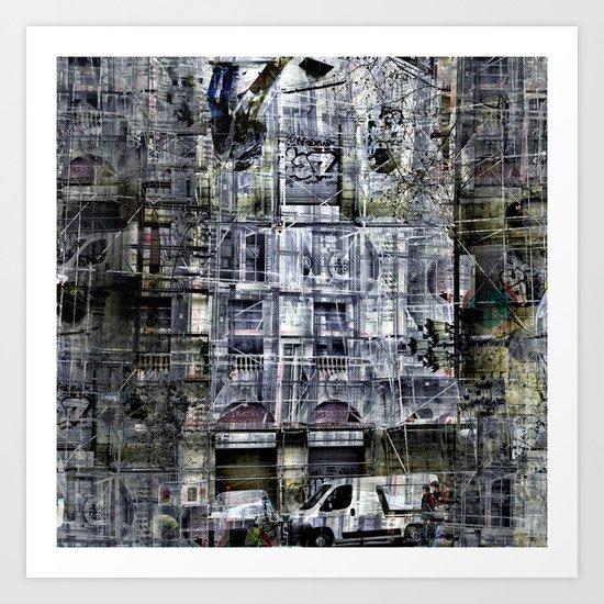 frames overlain like demography Art Print