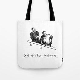 James Joyce x Ernest Hemingway - Drunken Shenanigans Painting Tote Bag