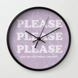 The Best of (Please, let me get what I want-The Smiths) Wall Clock