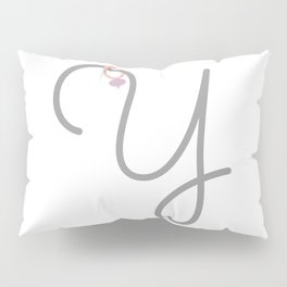 Y Initial with Stitch Marker Pillow Sham