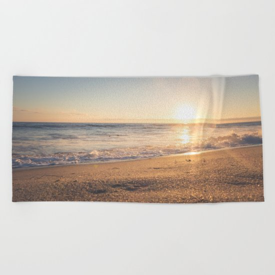 Sunspot in the Sand Beach Towel