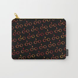 Glasses & Lightning Bolt - Gryffindor Red Carry-All Pouch