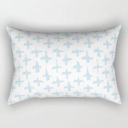 Baby Blue plus signs brush strokes seamless pattern Rectangular Pillow