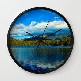 Lonesome Lake Wall Clock