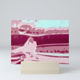 Eye of Tiger Pink - White Abstract Vector Texture Mini Art Print