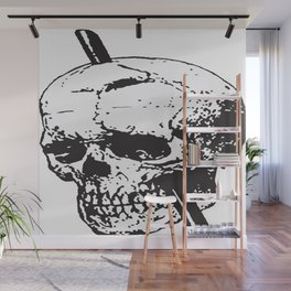 Frontal Lobotomy Skull Of Phineas Gage Vector Isolated Wall Mural