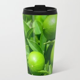 Green lemons on lemon tree Travel Mug