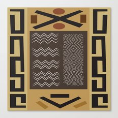 African Tribal Pattern No. 58 Canvas Print