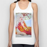tequila Tank Tops featuring Tequila Sunrise by Geraldine Warrior