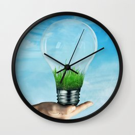 Save Green Concept Wall Clock