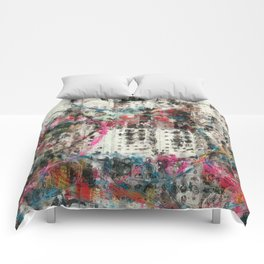 Analog Synthesizer, Abstract painting / illustration Comforters