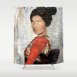 Geisha/Newspaper Serie Shower Curtain