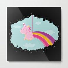 Licorne Piñata Black Version Metal Print