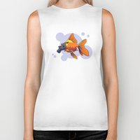 breathe Biker Tanks featuring Breathe by rob art | simple
