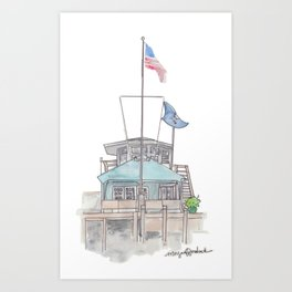 Essex Island Marina Art Print