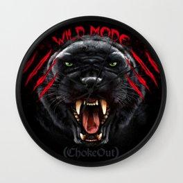 Wild Mode. Bjj, Mma, grappling Wall Clock