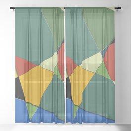 Vincent's Palette Sheer Curtain