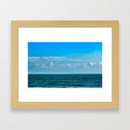 Cloudy Blue Sky Framed Art Print