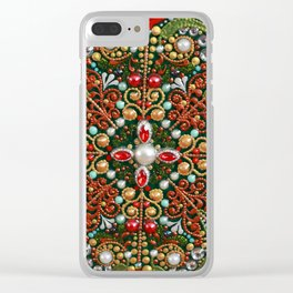 Christmas Flower Clear iPhone Case